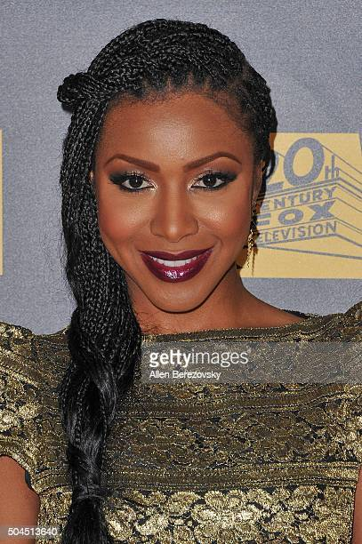 Actress Gabrielle Dennis attends Fox And FX's 2016 Golden Globe Awards Party on January 10 2016 in Beverly Hills California