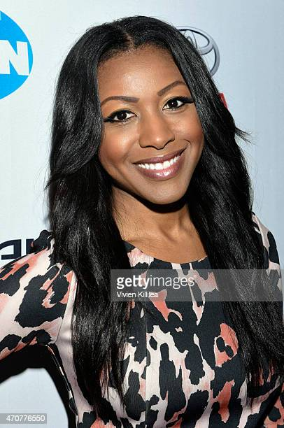 Actress Gabrielle Dennis attends Keep It Clean To Benefit Waterkeeper Alliance Live Earth Day Comedy Benefit on April 22 2015 in Los Angeles...