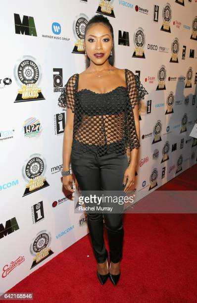 Actress Gabrielle Dennis attends The 7th Annual Guild Of Music Supervisors Awards at The Theater at Ace Hotel on February 16 2017 in Hollywood...