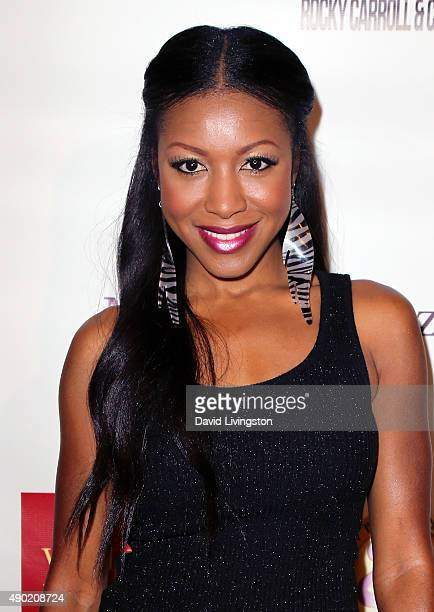 Actress Gabrielle Dennis attends the KIS Foundation's 12th Annual Celebrity Bowling Challenge at PINZ Entertainment Center on September 26 2015 in...
