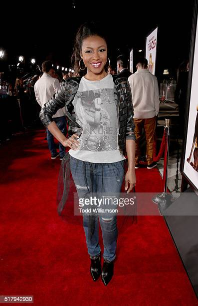 Actress Gabrielle Dennis attends the premiere of USA Pictures' 'The Boss' at Regency Village Theatre on March 28 2016 in Westwood California