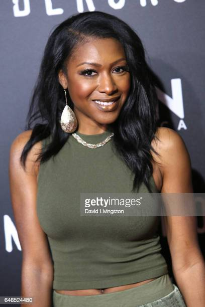 Actress Gabrielle Dennis attends the premiere of WGN America's 'Underground' Season 2 at Westwood Village on February 28 2017 in Los Angeles...
