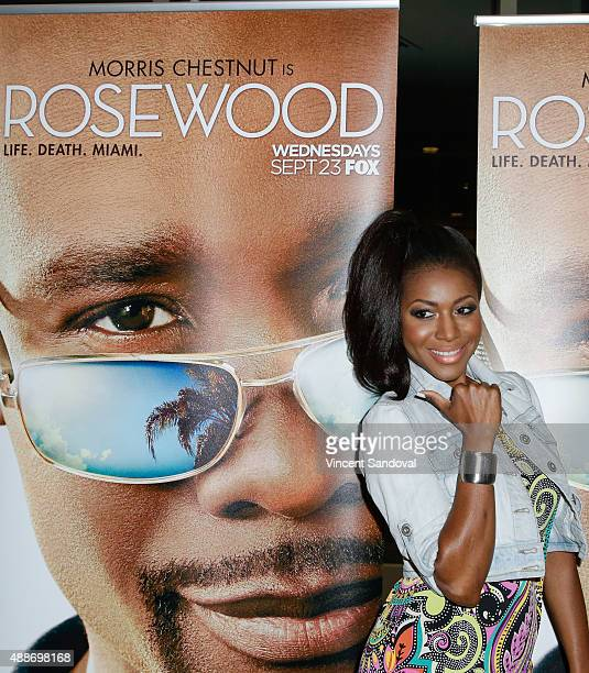 Actress Gabrielle Dennis attends the screening of FOX TV's 'Rosewood' at Regal Cinemas LA Live on September 16 2015 in Los Angeles California