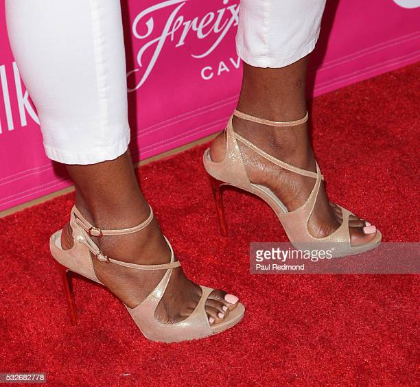 Actress Gabrielle Dennis shoe detail arriving at OK Magazine's So Sexy LA at SkyBar at the Mondrian Los Angeles on May 18 2016 in West Hollywood...