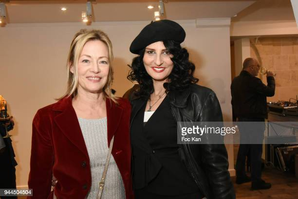 Actress Gabrielle Lazure and model/writer Sylvie Ortega MunosÊattend the 'Bel RP' 10th Anniversary at Atelier Sevigne on April 10 2018 in Paris France