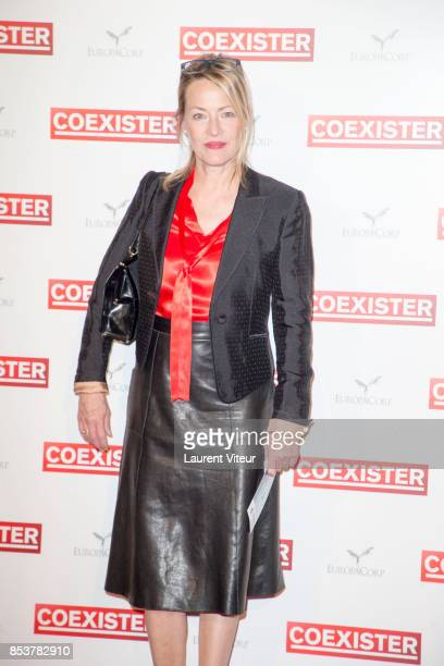 Actress Gabrielle Lazure attends 'Coexister' Paris Premiere at Le Grand Rex on September 25 2017 in Paris France