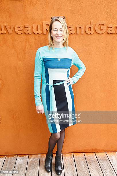 Actress Gabrielle Lazure attends the 2016 French Tennis Open Day Three at Roland Garros on May 24 2016 in Paris France