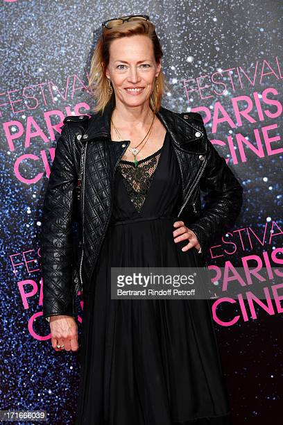 Actress Gabrielle Lazure poses at Festival Paris Cinema Opening night and premiere of La Venus a la fourrure held at Gaumont Capucines on June 27...