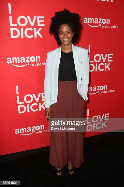 Actress Gabrielle Maiden attends the premiere of Amazon's 'I Love Dick' at the Linwood Dunn Theater on April 20 2017 in Los Angeles California
