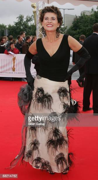 Actress Gabrielle Scharnitzky arrives at the Deutscher Filmpreis German Film Awards at the Philharmonic July 8 2005 in Berlin Germany