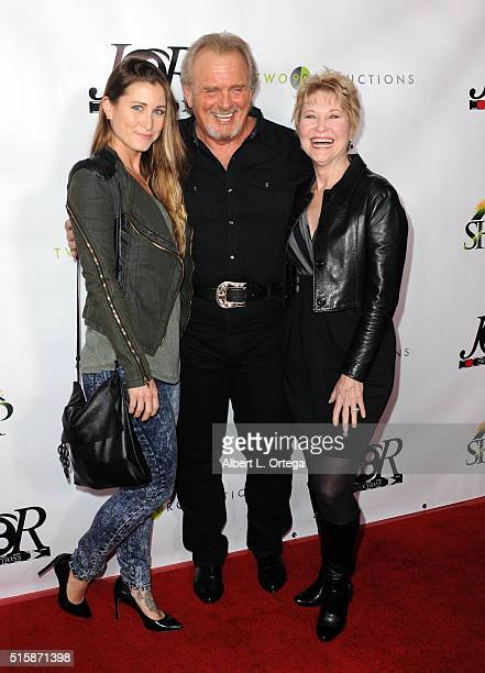 Actress Gabrielle Stone actor Robert Craighead and actress Dee Wallace arrive for the Premiere Of JR Productions' Halloweed held at TCL Chinese 6...