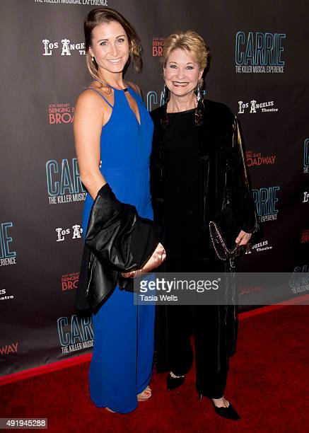 Actress Gabrielle Stone and actress Dee Wallace arrive at Carrie The Killer Musical Experience Opening Night Red Carpet at Los Angeles Theatre on...