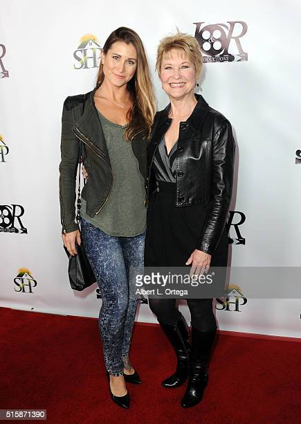 Actress Gabrielle Stone and mother/actress Dee Wallace arrive for the Premiere Of JR Productions' 'Halloweed' held at TCL Chinese 6 Theatres on March...