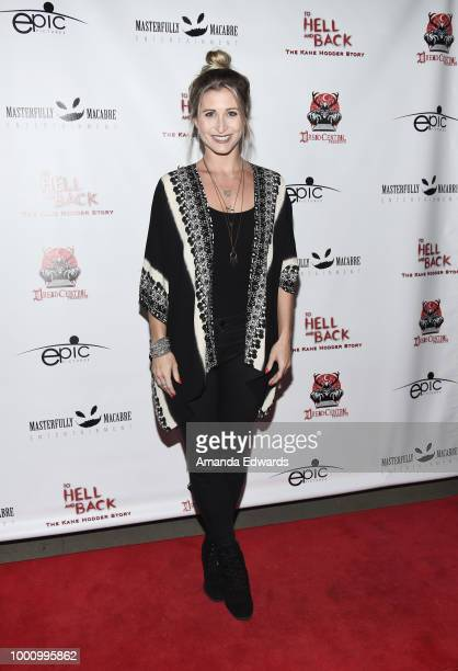 Actress Gabrielle Stone arrives at a screening of Epic Pictures Releasing's 'To Hell And Back The Kane Hodder Story' at the TCL Chinese 6 Theatres on...