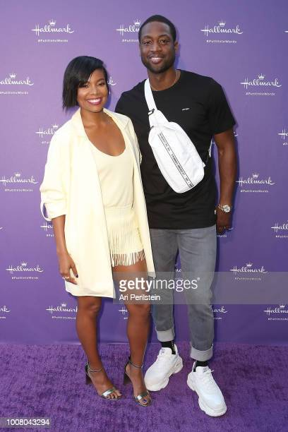 Actress Gabrielle Union and Basketball Player Dwyane Wade arrive at Hallmark's When You Care Enough to Put It Into Words Launch Event on July 30 2018...