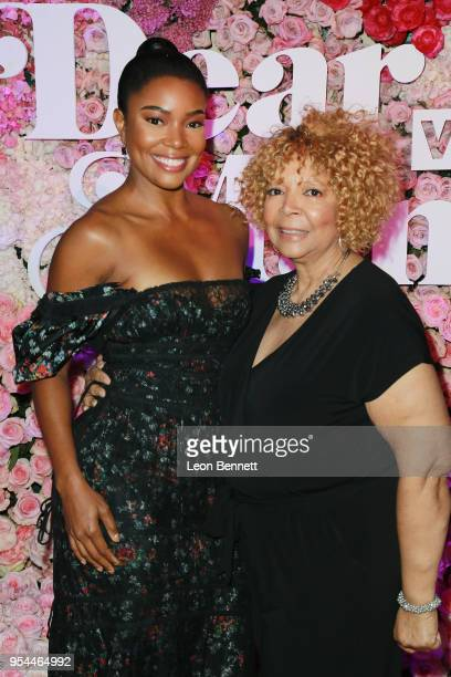 Actress Gabrielle Union and her mom attends the VH1's 3rd Annual Dear Mama A Love Letter To Moms Cocktail Reception at The Theatre at Ace Hotel on...