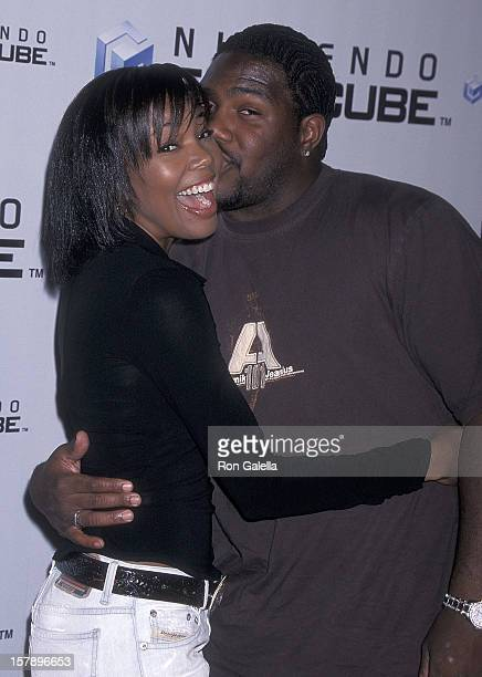 Actress Gabrielle Union and husband athlete Chris Howard attend the Nintendo GameCube Launch Party on October 3 2001 at Hollywood Boulevard in...