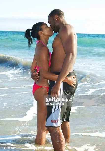 Actress Gabrielle Union and Miami Heat basketball player Dwyane Wade are sighted enjoying a beach outing on September 21 2013 in Malibu California