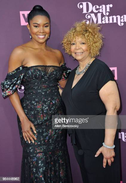 Actress Gabrielle Union and mom Theresa Union attend VH1's 3rd Annual 'Dear Mama A Love Letter To Moms' at The Theatre at Ace Hotel on May 3 2018 in...