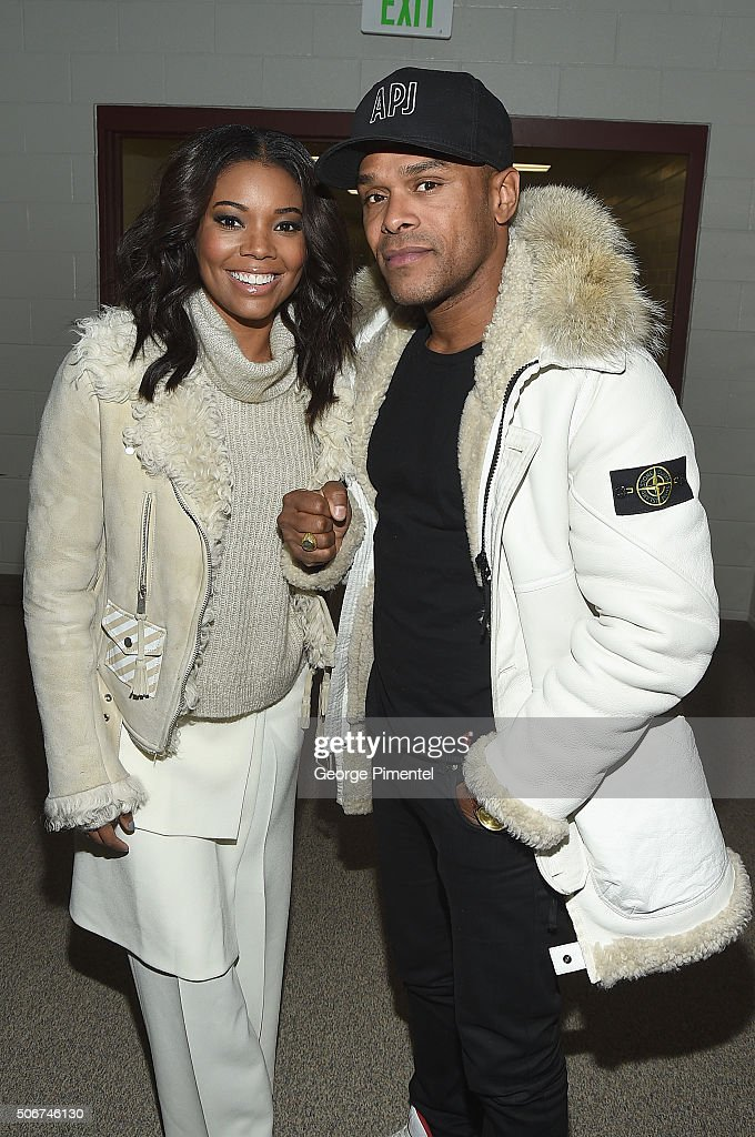 Actress Gabrielle Union (L) and musician Maxwell attend the 'The Birth Of A Nation' Premiere during the 2016 Sundance Film Festival at Eccles Center Theatre on January 25, 2016 in Park City, Utah.