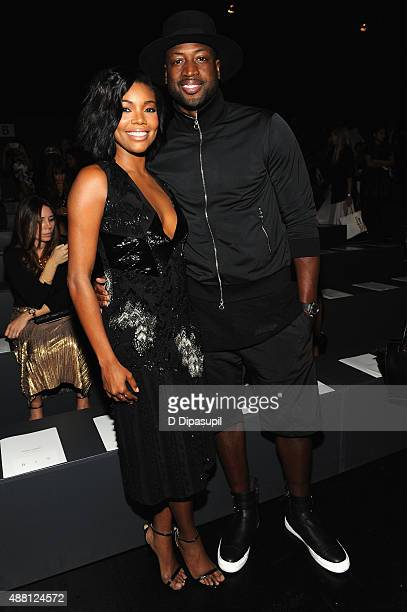 Actress Gabrielle Union and NBA player Dwyane Wade attend Prabal Gurung Spring 2016 during New York Fashion Week The Shows at The Arc Skylight at...