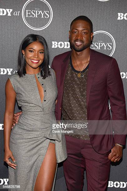 Actress Gabrielle Union and NBA player Dwyane Wade attend the BODY At The ESPYs preparty at Avalon Hollywood on July 12 2016 in Los Angeles California