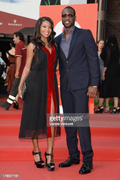 Actress Gabrielle Union and NBA player Dwyane Wade attend the Miu Miu Women's Tale Premiere during the 70th Venice International Film Festival at...