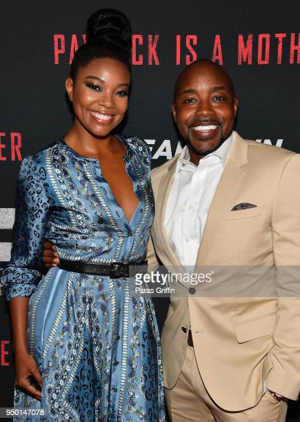 Actress Gabrielle Union and producer Will Packer attend Breaking In Atlanta Private Screening at Regal Atlantic Station on April 22 2018 in Atlanta...