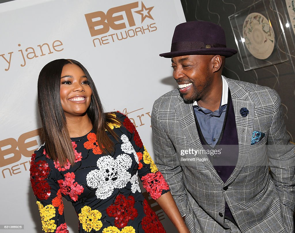 Actress Gabrielle Union and producer Will Packer attend the Being Mary Jane premiere, screening, and party on January 9, 2017 in New York City.