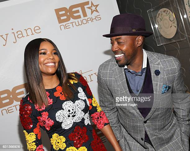 Actress Gabrielle Union and producer Will Packer attend the Being Mary Jane premiere screening and party on January 9 2017 in New York City