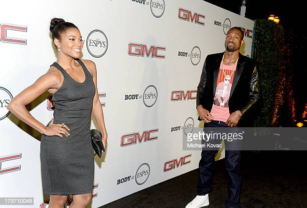 Actress Gabrielle Union and Professional basketball player Dwyane Wade attend ESPN The Magazine 5th annual 'Body Issue' party at Lure on July 16 2013...