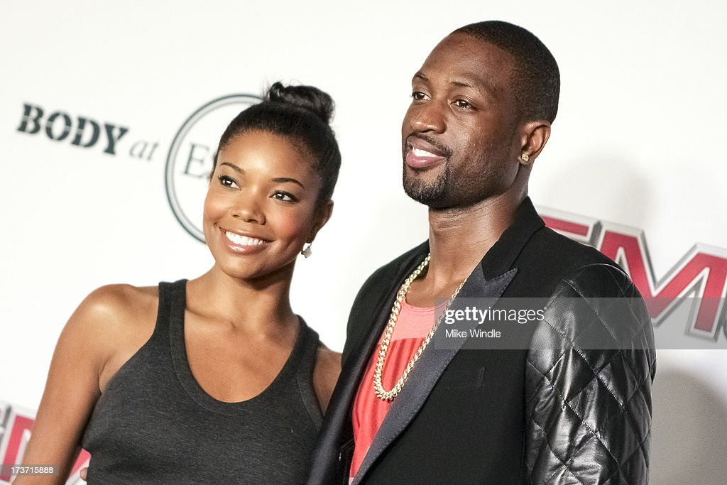 Actress Gabrielle Union (L) and Professional basketball player Dwyane Wade arrive at ESPN the Magazine's 'Body Issue' 5th annual ESPY's event at Lure on July 16, 2013 in Hollywood, California.