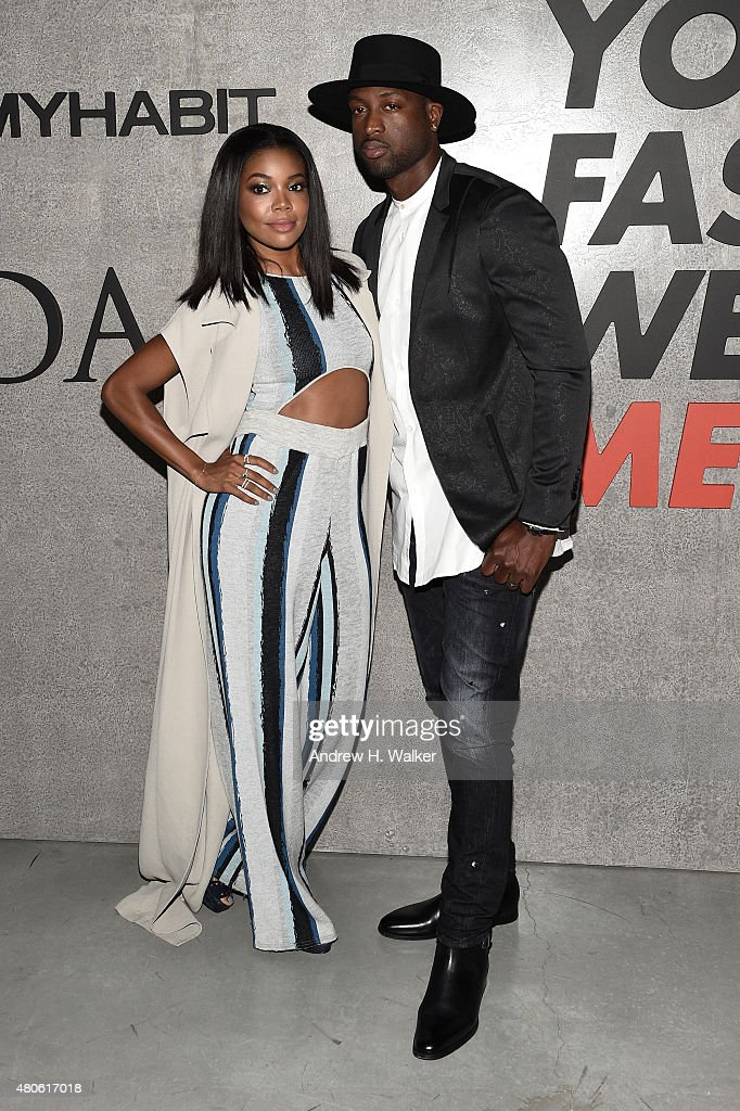 Actress Gabrielle Union (L) and Professional Basketball Player Dwyane Wade attend the opening event for New York Fashion Week: Men's S/S 2016 at Amazon Imaging Studio on July 13, 2015 in Brooklyn, New York.