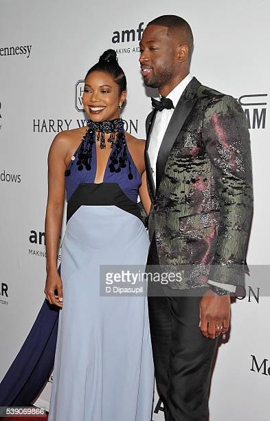 Actress Gabrielle Union and Professional Basketball Player Dwyane Wade attend the 7th Annual amfAR Inspiration Gala at Skylight at Moynihan Station...