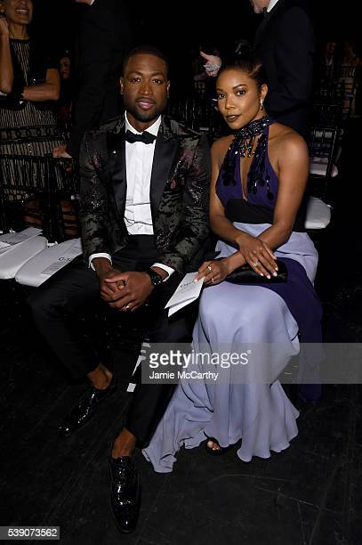 Actress Gabrielle Union and Professional Basketball Player Dwyane Wade attends the 7th Annual amfAR Inspiration Gala at Skylight at Moynihan Station...