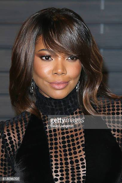 Actress Gabrielle Union arrives at the 2016 Vanity Fair Oscar Party Hosted by Graydon Carter at the Wallis Annenberg Center for the Performing Arts...