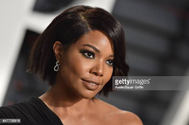 Actress Gabrielle Union arrives at the 2017 Vanity Fair Oscar Party Hosted By Graydon Carter at Wallis Annenberg Center for the Performing Arts on...