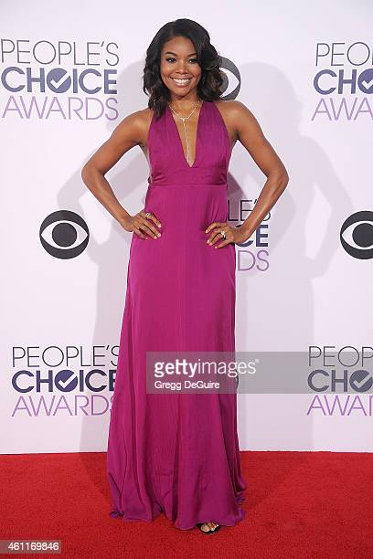 Actress Gabrielle Union arrives at The 41st Annual People's Choice Awards at Nokia Theatre LA Live on January 7 2015 in Los Angeles California