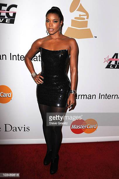 Actress Gabrielle Union arrives at the 52nd Annual GRAMMY Awards Salute To Icons Honoring Doug Morris held at The Beverly Hilton Hotel on January 30...