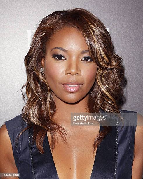 Actress Gabrielle Union arrives at the Armani Exchange for Disco Glam presented by A|X and ELLE at A|X Robertson Store on May 25 2010 in Los Angeles...