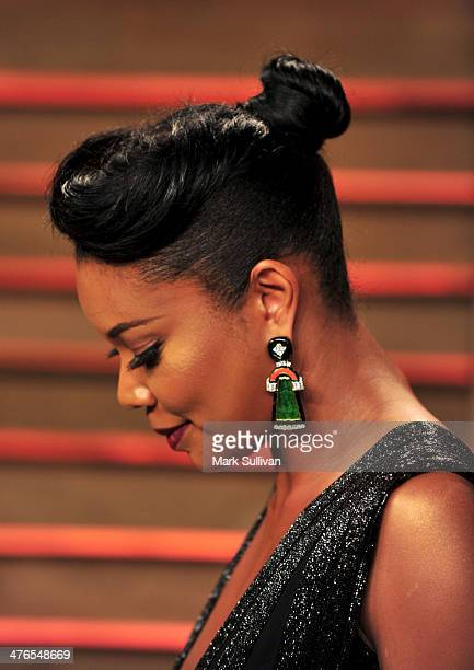 Actress Gabrielle Union arrives for the 2014 Vanity Fair Oscar Party hosted by Graydon Carter on March 2 2014 in West Hollywood California