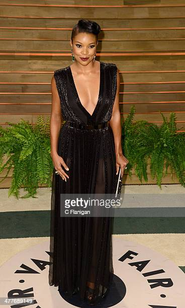 Actress Gabrielle Union arrives to the 2014 Vanity Fair Oscar Party on March 2 2014 in West Hollywood California