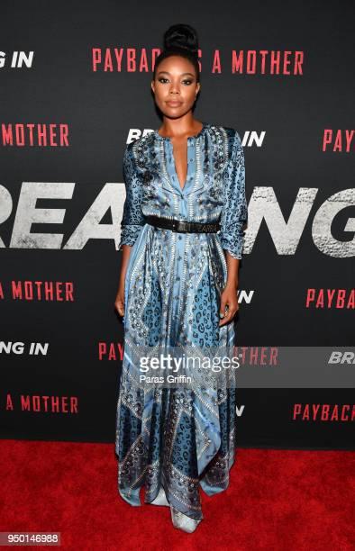 Actress Gabrielle Union attends Breaking In Atlanta Private Screening at Regal Atlantic Station on April 22 2018 in Atlanta Georgia