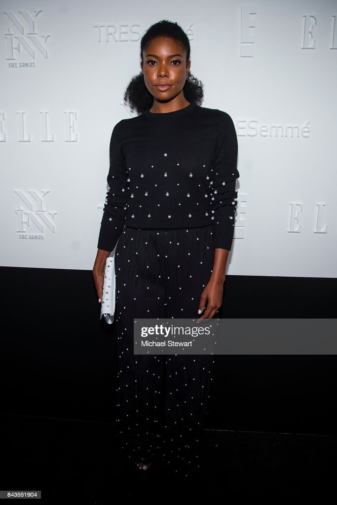 Actress Gabrielle Union attends ELLE, E! & IMG host A Celebration of Personal Style NYFW Kickoff Party on September 6, 2017 in New York City.