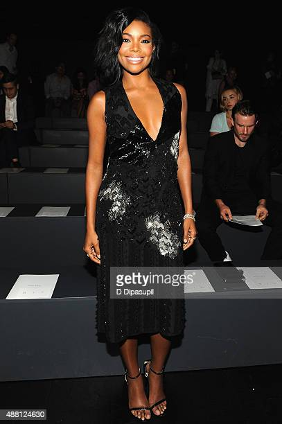 Actress Gabrielle Union attends Prabal Gurung Spring 2016 during New York Fashion Week The Shows at The Arc Skylight at Moynihan Station on September...