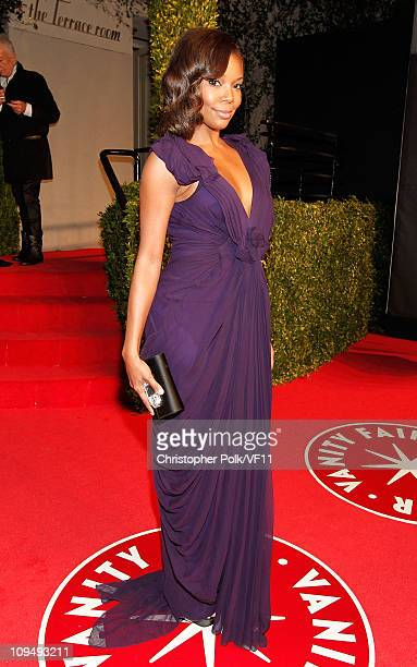 Actress Gabrielle Union attends the 2011 Vanity Fair Oscar Party Hosted by Graydon Carter at the Sunset Tower Hotel on February 27 2011 in West...