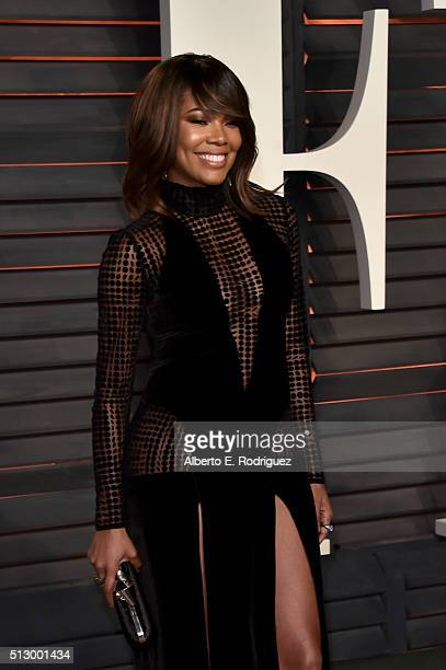 Actress Gabrielle Union attends the 2016 Vanity Fair Oscar Party hosted By Graydon Carter at Wallis Annenberg Center for the Performing Arts on...
