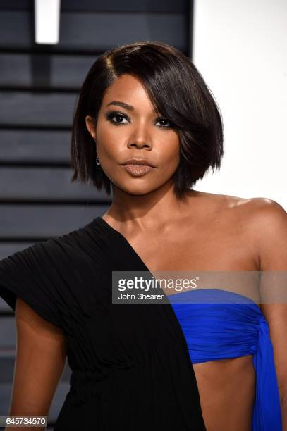Actress Gabrielle Union attends the 2017 Vanity Fair Oscar Party hosted by Graydon Carter at Wallis Annenberg Center for the Performing Arts on...
