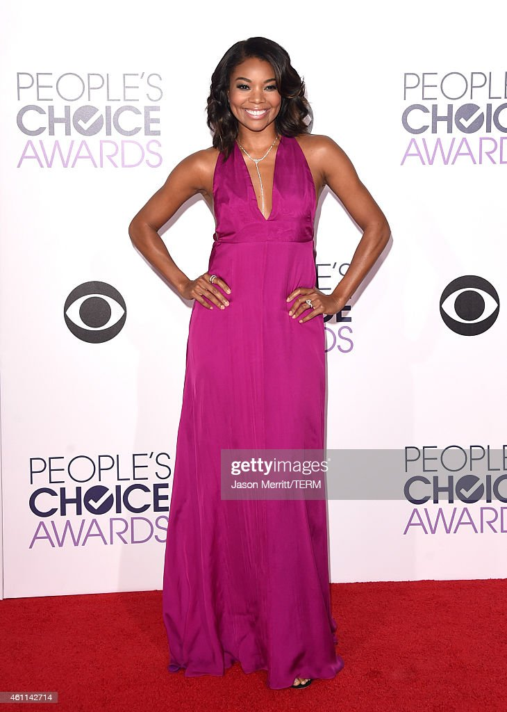 Actress Gabrielle Union attends The 41st Annual People's Choice Awards at Nokia Theatre LA Live on January 7, 2015 in Los Angeles, California.