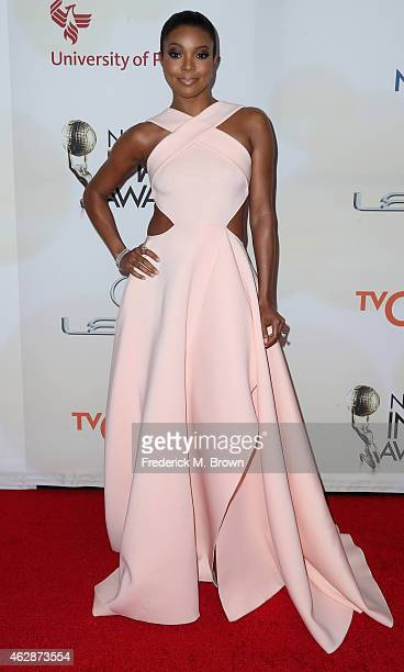 Actress Gabrielle Union attends the 46th NAACP Image Awards presented by TV One at Pasadena Civic Auditorium on February 6 2015 in Pasadena California